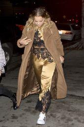 Rita Ora Wearing Her Pajamas