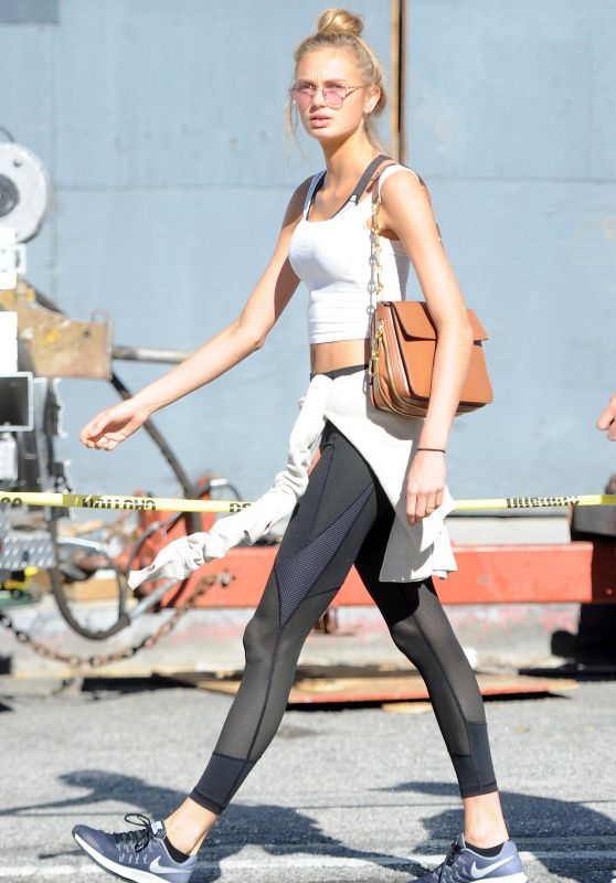 Romee Strijd at Urth Caffe in West Hollywood 1/30/ 2017
