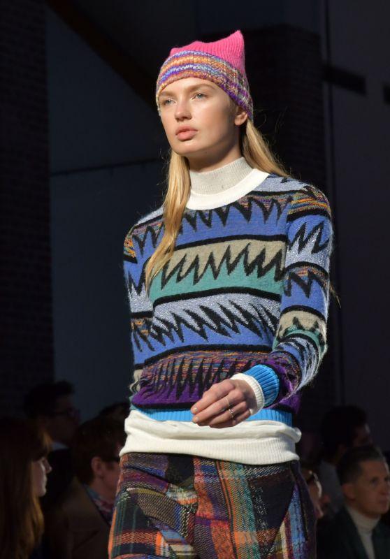 Romee Strijd Walks Missoni Show at Milan Fashion Week 2/25/ 2017