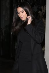 Roselyn Sanchez - Leaves Catch Restaurant in a Black Outfit in Los Angeles 2/11/ 2017