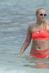 Sabine Lisicki - Enjoys a Day in Bikini on Miami Beach 2/3/ 2017