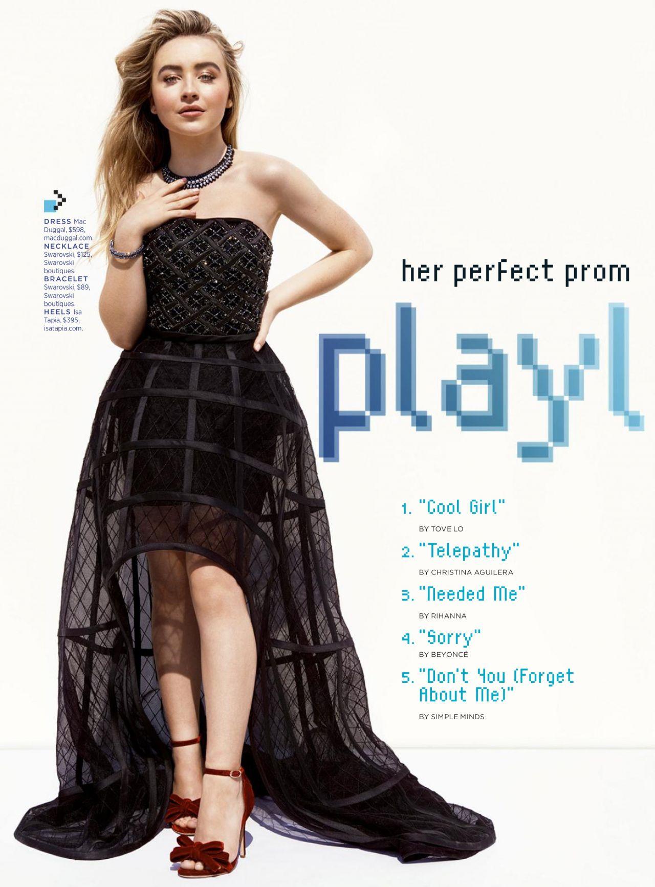 Sabrina Carpenter Seventeen Prom Magazine 2017 Issue