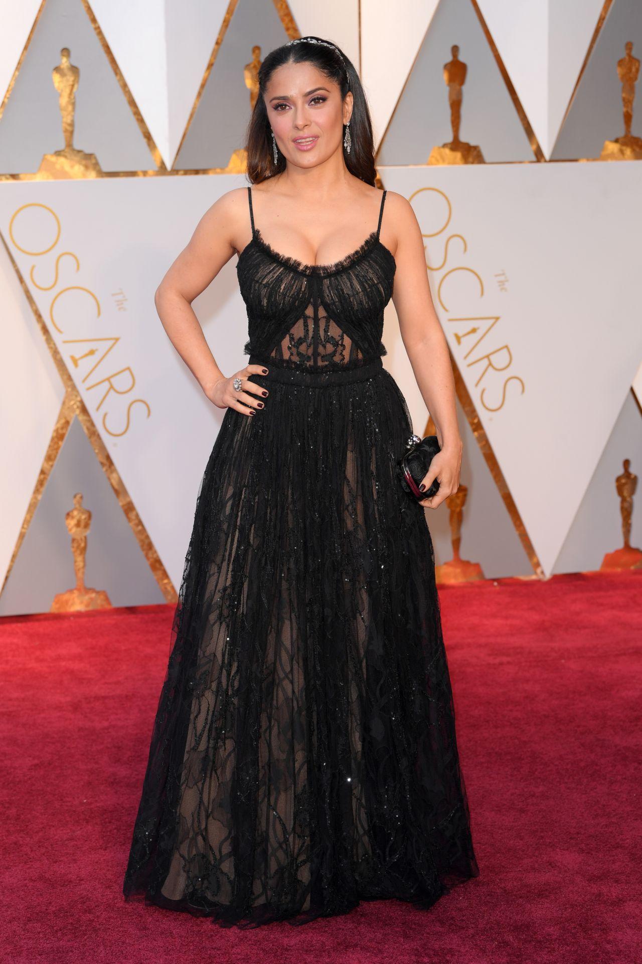 Salma Hayek Oscars 2017 Red Carpet In Hollywood