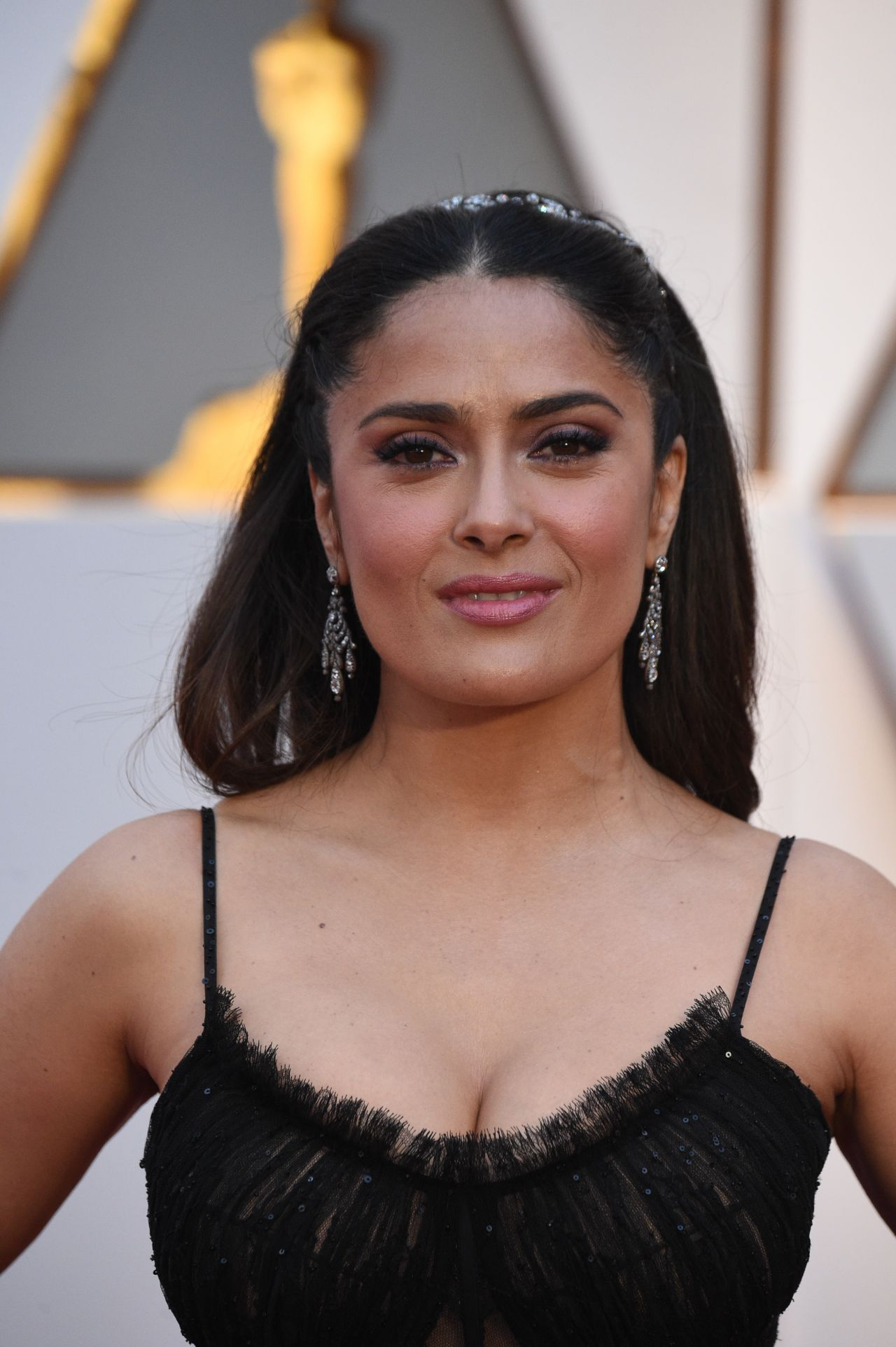 Salma Hayek Oscars 2017 Red Carpet In Hollywood