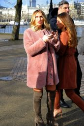 Sam & Billie Faiers - Minnies Beauty Bus Photocall in Berlin 2/7/ 2017