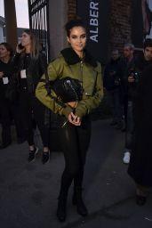 Sara Sampaio at Milan Fashion Week - Alberta Ferretti Show 2/22/ 2017