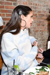 Sara Sampaio – Baja East and Spring Part at New York Fashion Week 2/14/ 2017