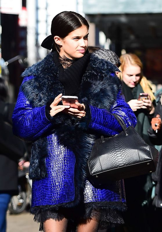 Sara Sampaio - On Her Way to Another New York Fashion Show 2/15/ 2017