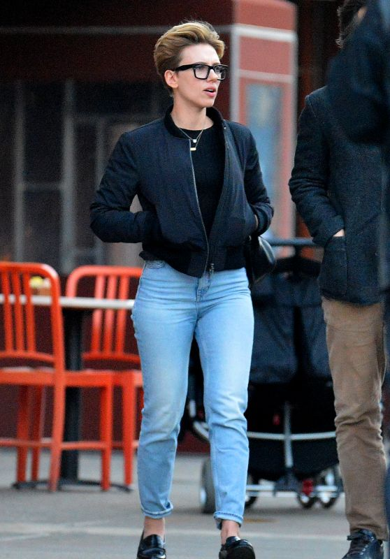 Scarlett Johansson in Jeans - Out in New York 2/22/ 2017