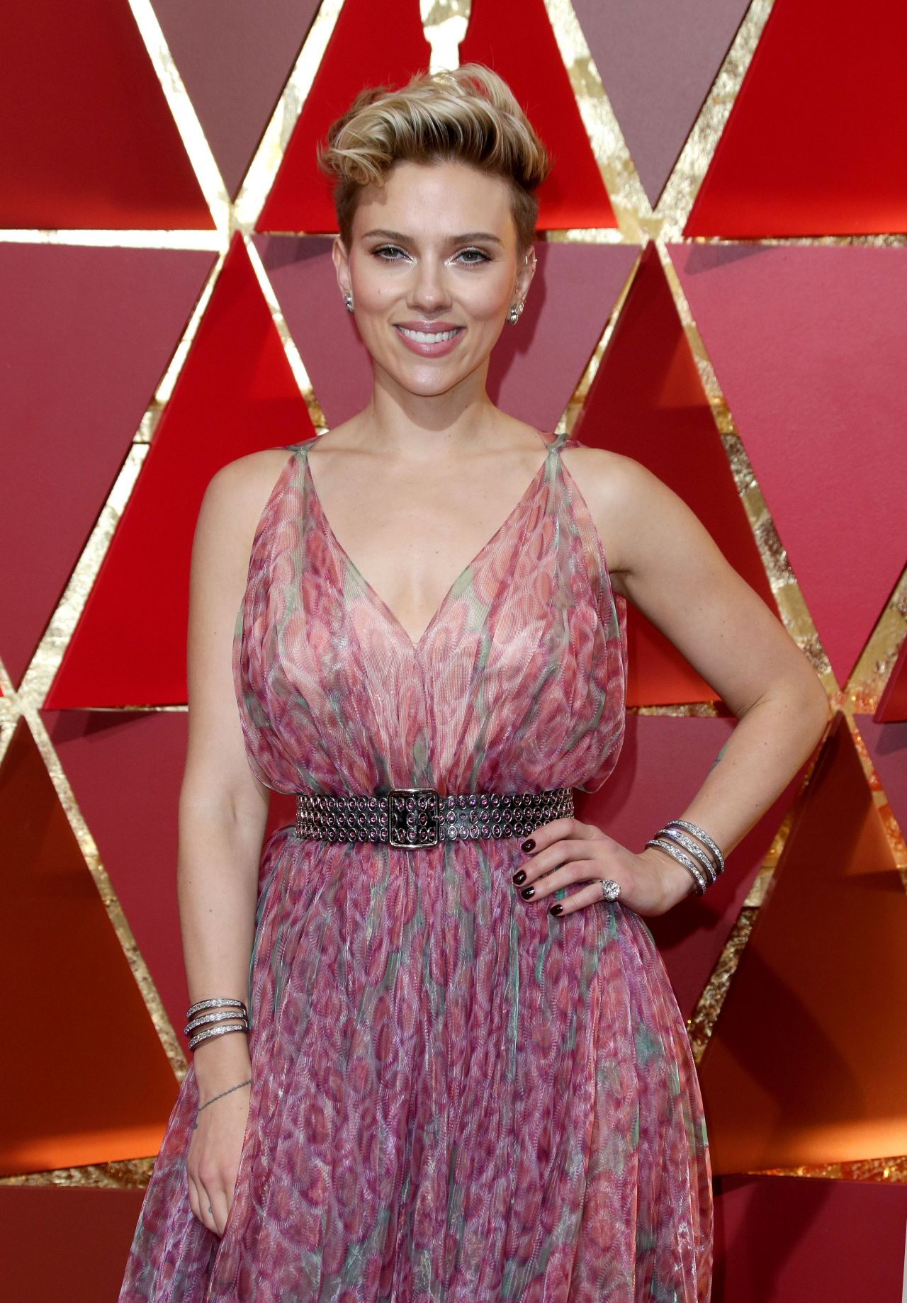 Scarlett Johansson Oscars 2017 Red Carpet In Hollywood