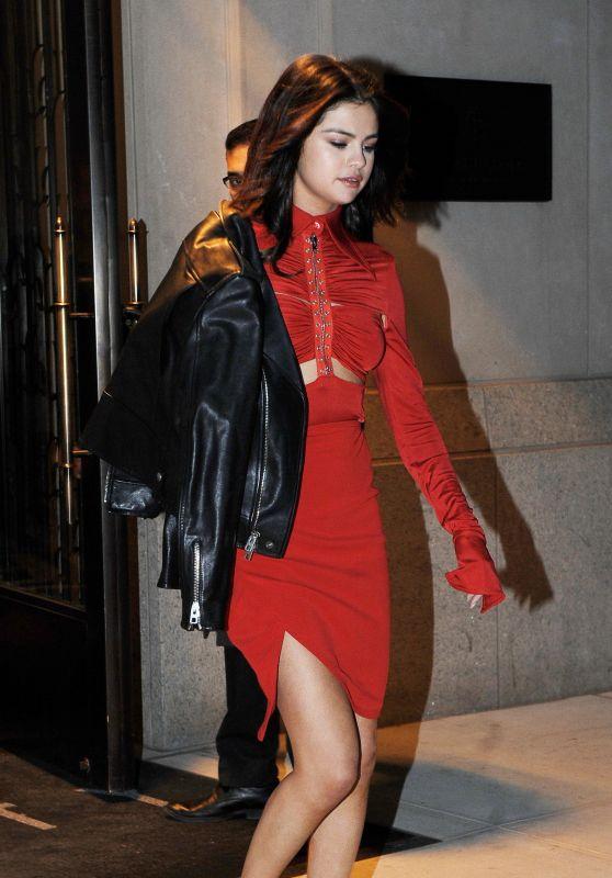Selena Gomez In Red On Valentines Day New York City 214