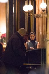 Selena Gomez - Leaving Hotel La Reserve With Her Boyfriend The Weeknd in Paris 2/27/ 2017