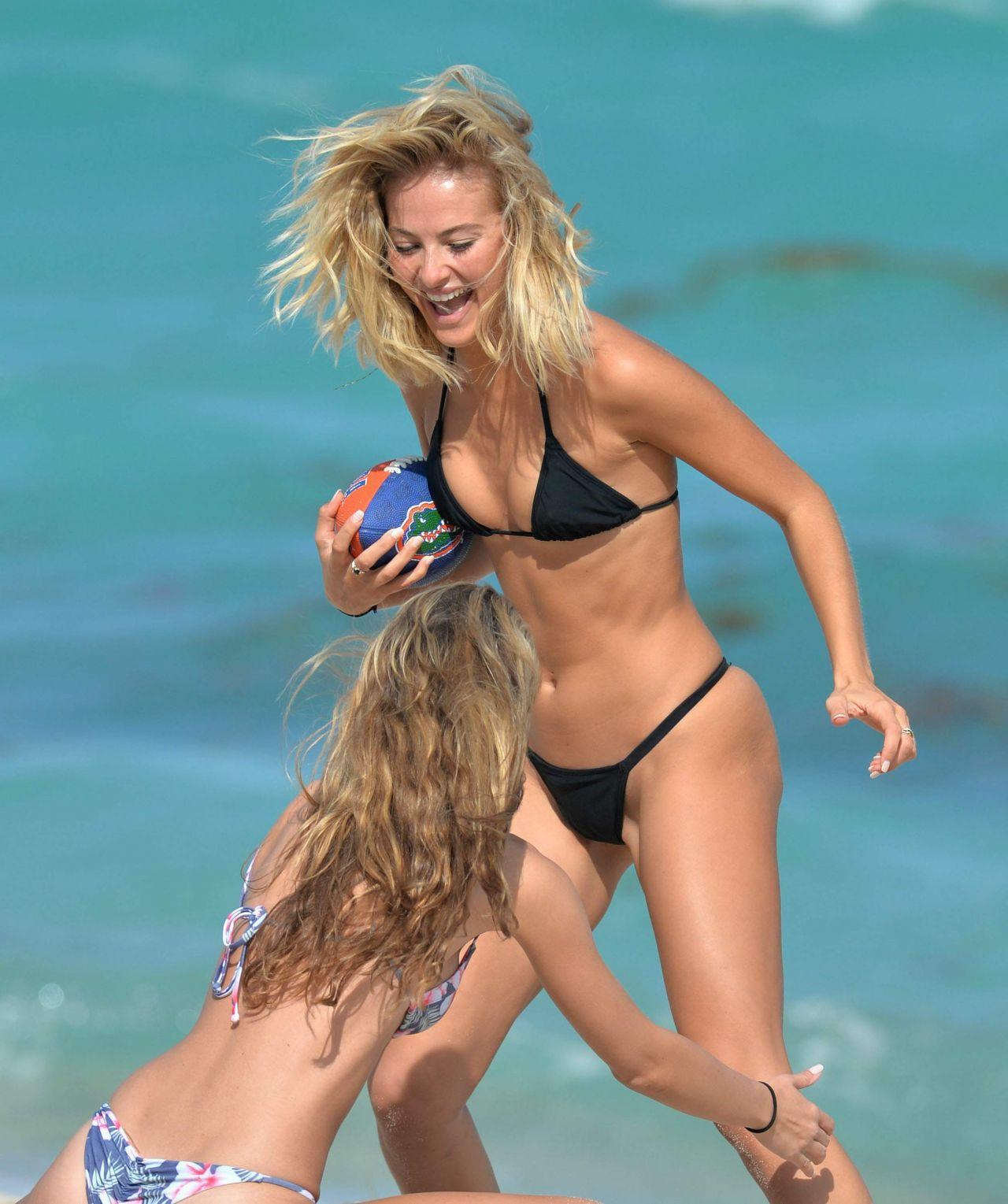 Selena Weber Bikini Photos Beach Miami February 11 Lucy Boynton