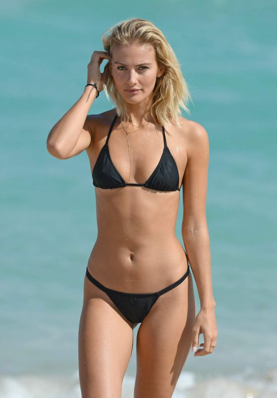 Selena Weber Bikini Photos - Beach in Miami, February 2017