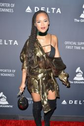 Serayah McNeill - Delta Air Lines Official Grammy Event in Los Angeles 2/9/ 2017