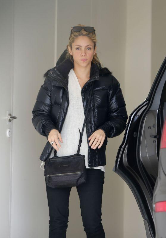 Shakira in Her Garage in Barcelona, Spain, February 2017