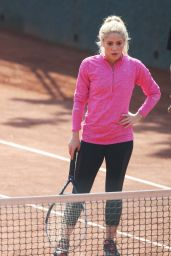 Shakira - Morning Training at a Tennis Club in Barcelona 2/27/ 2017