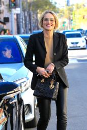 Sharon Stone - Leaving a Lunch Date With a Friend in Beverly Hills 2/24/ 2017
