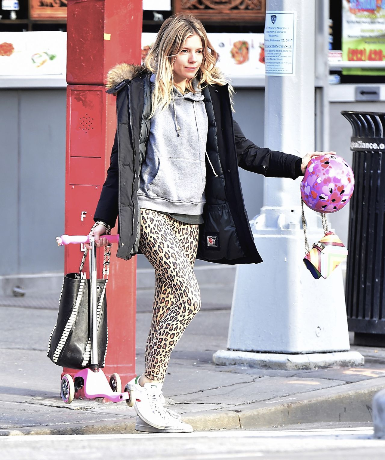 Sienna miller street style out in ny