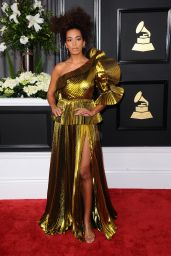 Solange Knowles on Red Carpet – GRAMMY Awards in Los Angeles 2/12/ 2017
