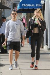 Sophie Turner in Leggings - Out in Los Angeles 2/14/ 2017