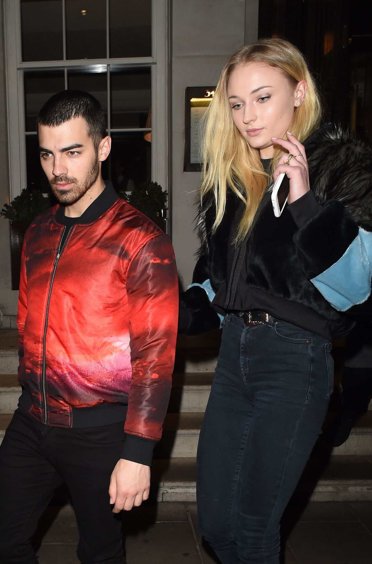Sophie Turner - Outside the 34 Restaurant With Her Boyfriend Joe Jonas in London 2/24/ 2017