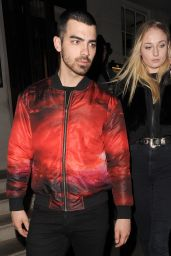 Sophie Turner - Outside the 34 Restaurant With Her Boyfriend Joe Jonas in London 2/24/ 2017