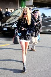 Stella Maxwell Arrives in Milan, Italy 2/21/ 2017