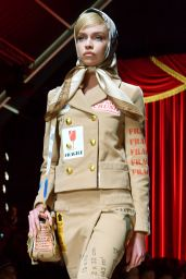 Stella Maxwell at Milan Fashion Week - Moschino Show 2/23/ 2017
