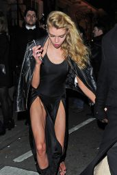 Stella Maxwell - Leaving The Love & Burberry London Fashion Week Party at Annabel