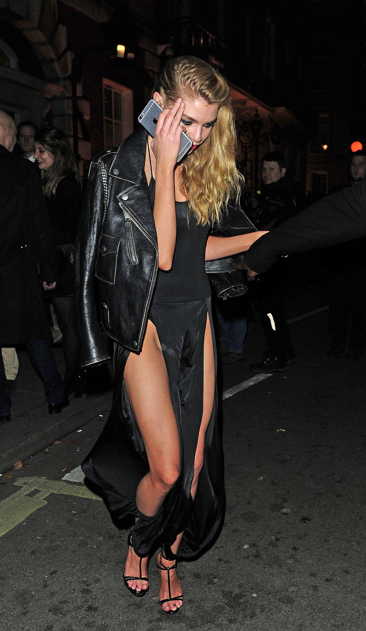 Stella Maxwell - Leaving The Love & Burberry London ...