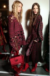 Stella Maxwell Walks FENDI Show at Milan Fashion Week 2/23/ 2017