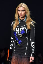 Stella Maxwell Walks the Runway During Milan Fashion Week - Versace Show 2/24/ 2017