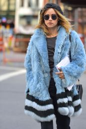 Suki Waterhouse  is Stylish - Soho in New York 2/2/ 2017