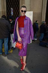 Sveva Alviti  – Trussardi Fashion Show Arrivals in Milan, Italy 2/26/ 2017