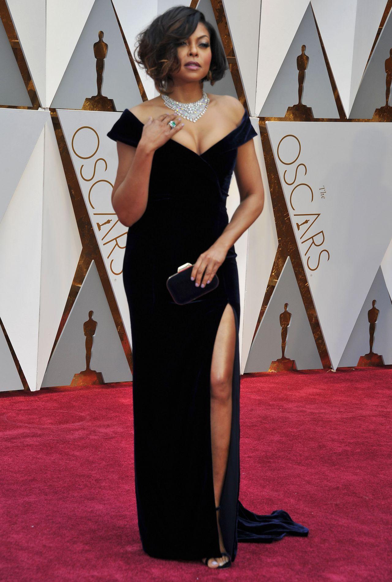 Taraji P Henson Oscars 2017 Red Carpet In Hollywood