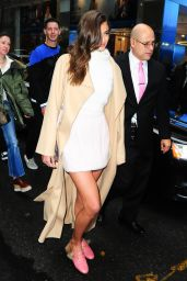 Taylor Hill Shows off Her Slender Legs - New York 2/7/ 2017