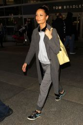 Thandie Newton Travel Outfit - Arrives in Los Angeles 2/24/ 2017