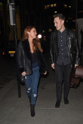 Una Healey - Out For Dinner With Sam Palladio at The Mondrian Hotel in London 2/7/ 2017