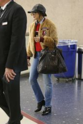 Vanessa Hudgens Travel Outfit - LAX Airport in Los Angeles 1/30/ 2017