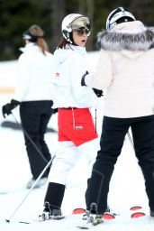 Victoria Beckham Looking Fashionable - Skiing in Whistler Canada 2/17/ 2017