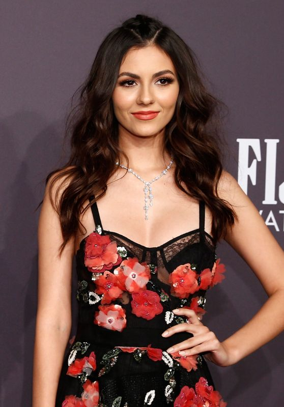 Victoria Justice at amfAR New York Gala Red Carpet, 2/8/ 2017