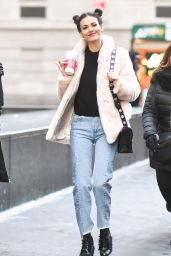 Victoria Justice - Out and About During New York Fashion Week, February 2017