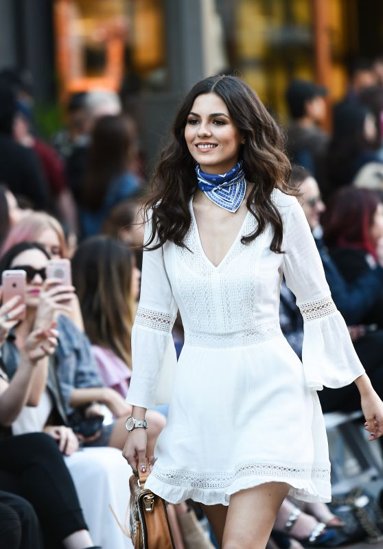 Victoria Justice - Rebecca Minkoff fashion Show in Los Angeles 2/4/ 2017
