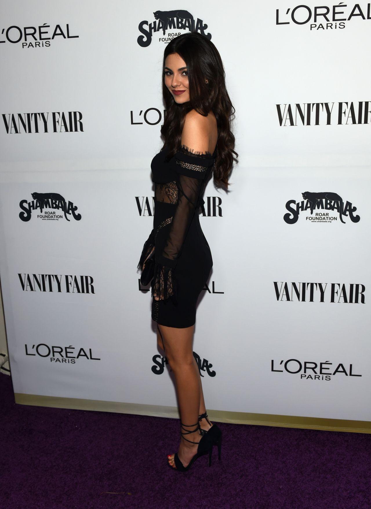 Victoria Justice Vanity Fair And L Oreal Paris Toast To