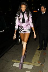 Winnie Harlow at Love Me 17 X Burberry Party at Annabel