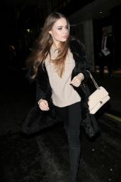 Xenia Tchoumitcheva - Exits the Savoy Hotel Ahead of the BAFTA Nominations Dinner in London 2/11/ 2017