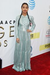 Yara Shahidi – 48th NAACP Image Awards in Los Angeles 2/11/ 2017