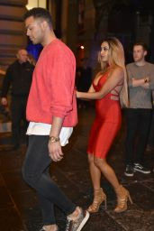 Zahida Allen - Geordie Shore Filming at TupTup Palace in Newcastle 2/16/ 2017