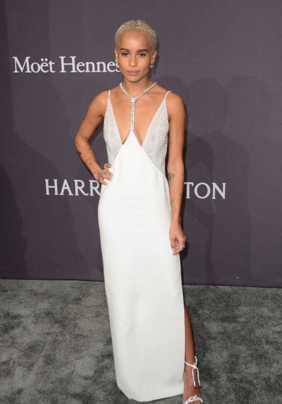 Zoe Kravitz at amfAR New York Gala Red Carpet, 2/8/ 2017